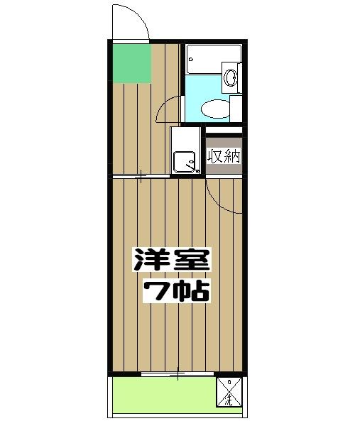 ユニメント桂川 201号室の間取り