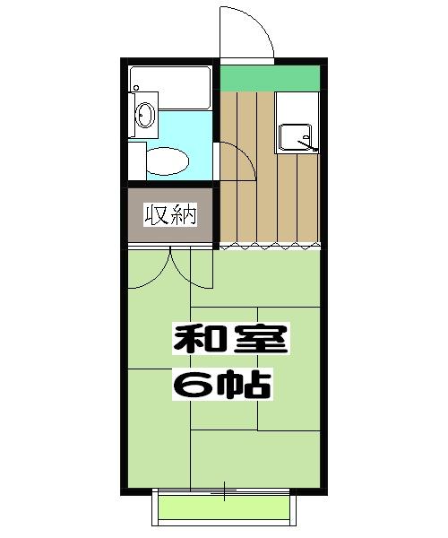 曙ハイツ 2B号室の間取り