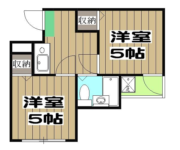 アメニティー京都1番館 3A号室の間取り