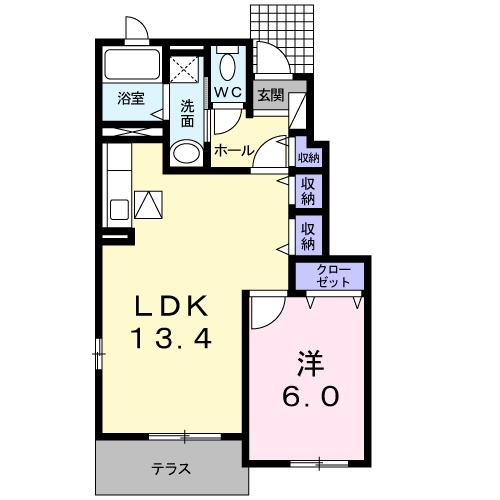 モンテレー L・K マンション・01040号室の間取り