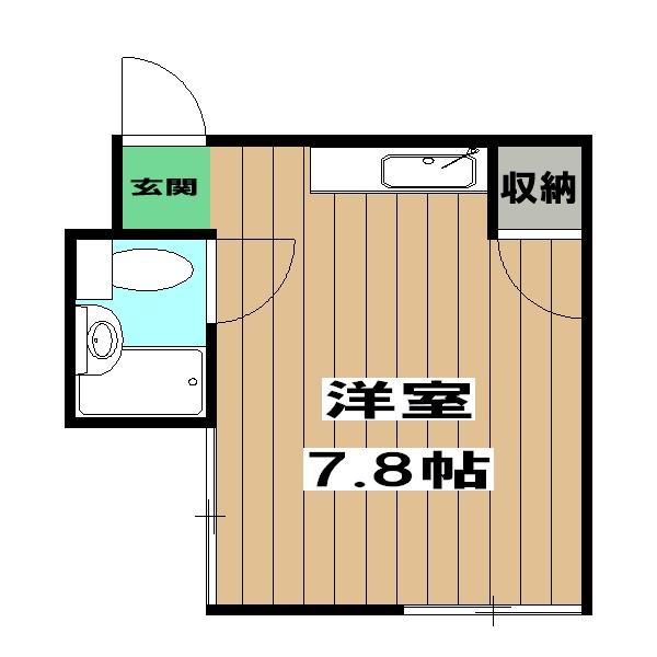 丸富マンション・5B号室の間取り