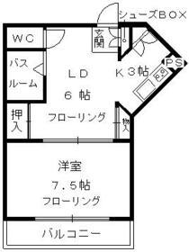 メープルYAMADA・302号室の間取り
