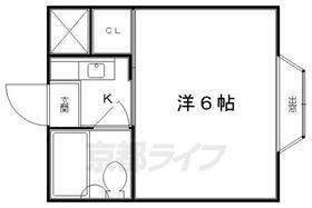 ハイム上賀茂・107号室の間取り