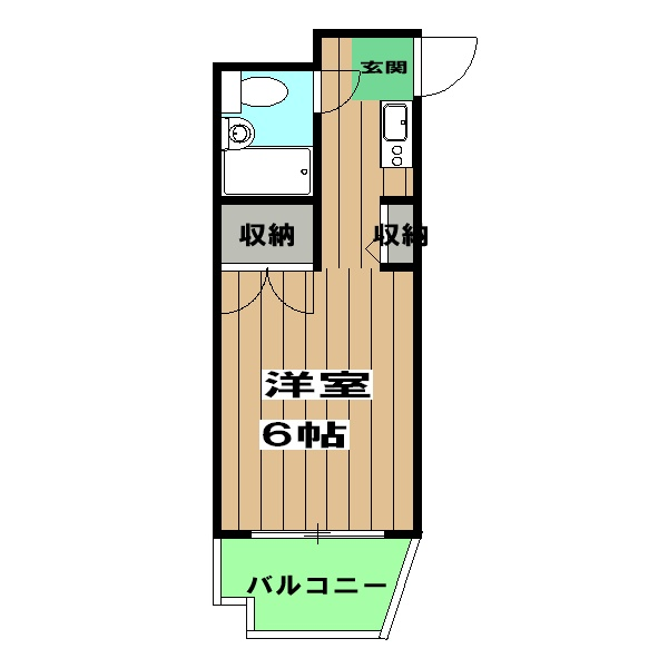 エスポワール12・2-B号室の間取り