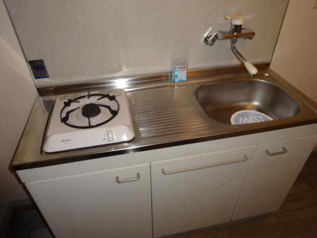 ポルコスピーノK 201号室のキッチン