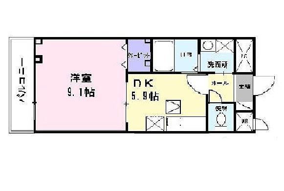 ヒラソル・ナツA・01030号室の間取り