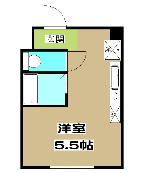 加賀山コーポ5・53号室の間取り