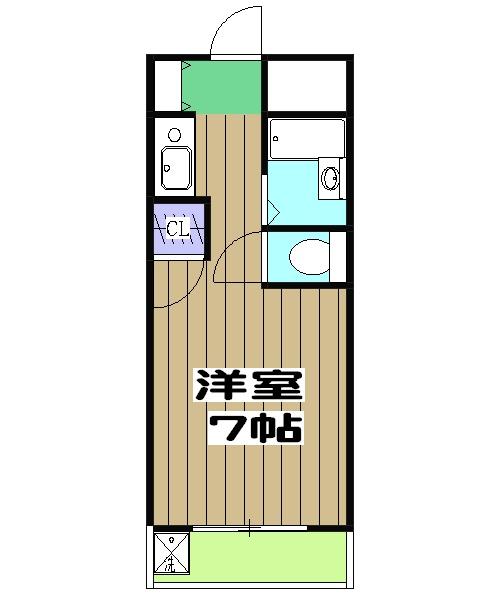 ウエストヴァレー京都・105号室の間取り