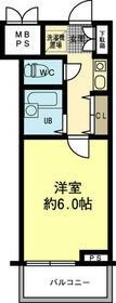 リーガル京都河原町Ⅲ 605号室の間取り