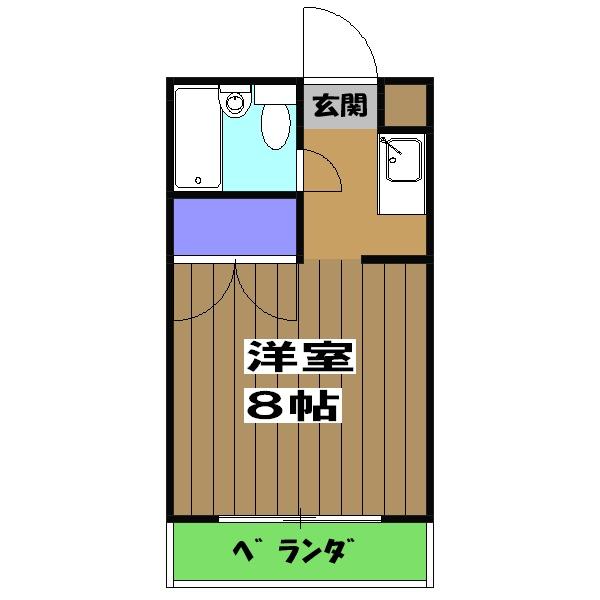 山岡マンション 205号室の間取り