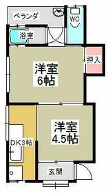 MAYUMIハイツ枚方11番館 2号室の間取り