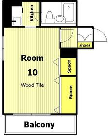 第2正美堂ビル 601号室の間取り