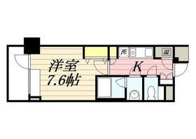 メゾン・ド・ヴィレ 日本橋中洲・0706号室の間取り
