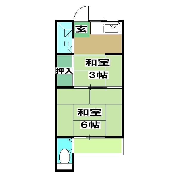 ヤマニ荘 20号室の間取り