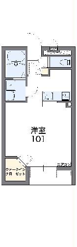レオネクスト千代川レオハイツ 103号室の間取り