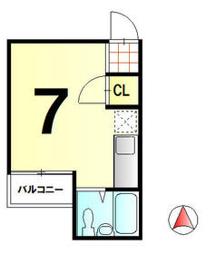 菊地第三マンション・107号室の間取り