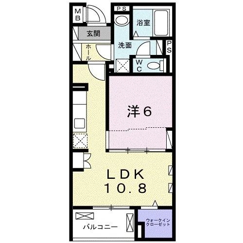 藤阪東レジデンス八弘・01040号室の間取り