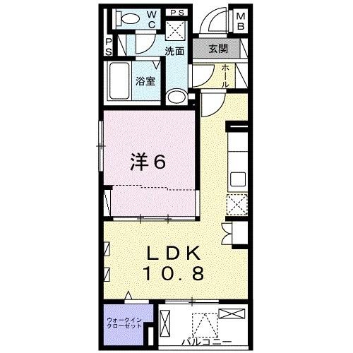 藤阪東レジデンス八弘・02050号室の間取り