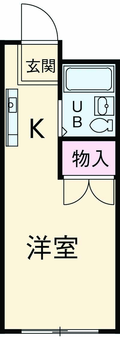 WAKABAⅠ・101号室の間取り