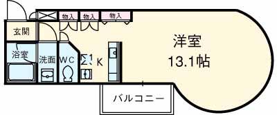 ソーシア桂・107号室の間取り