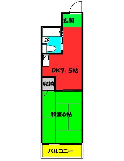 パル・コートKIYOYASU 303号室の間取り