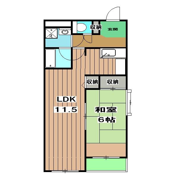 レトロマンションⅣ 202号室の間取り