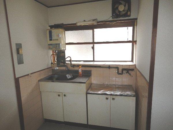 上豆田町貸家のキッチン
