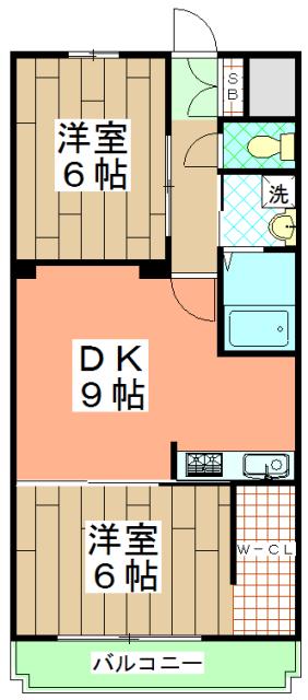 メゾン西寿 3-A号室の間取り