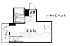 未麗 仁和寺・2-A号室の間取り