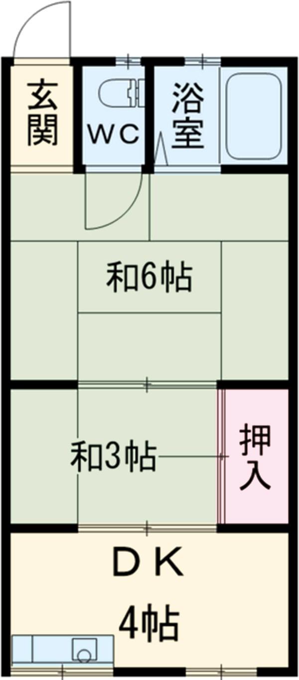 永山文化・E-201号室の間取り