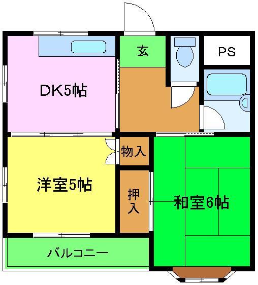 千萩マンションC棟 301号室の間取り