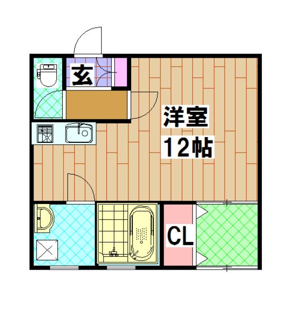 藤原マンション・303号室の間取り