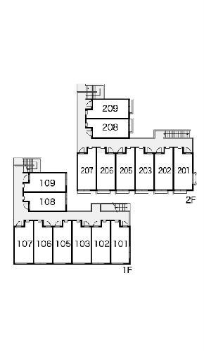 レオパレス千亀利 206号室の設備