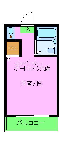 ユウパレス穴田・4D号室の間取り