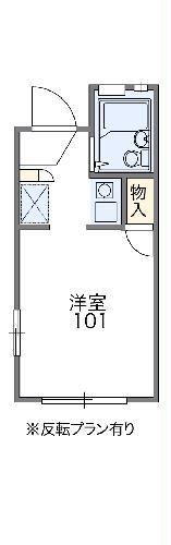 レオパレスFUKUMURAⅢ 102号室の間取り