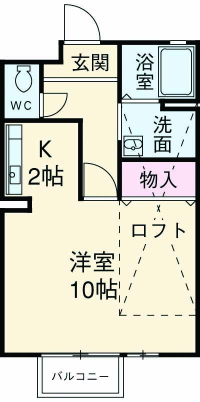 セジュール藤井 A棟・A105号室の間取り