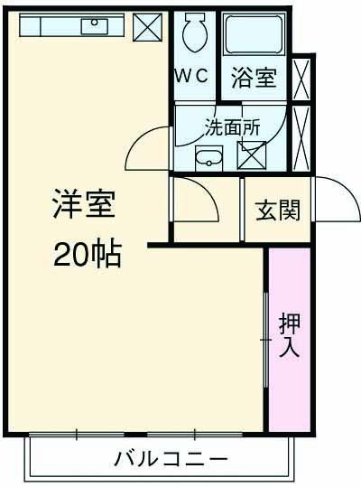 小松里マンション・201号室の間取り