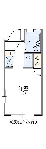 レオパレスFUKUMURAⅡ 101号室の間取り