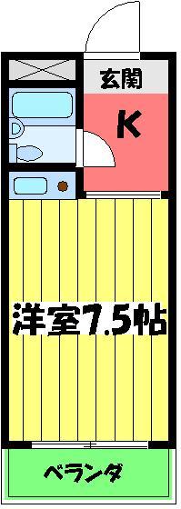 ヨーク取石 203号室の間取り