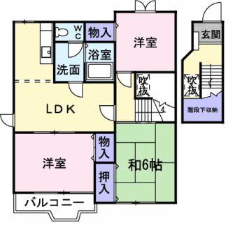 上野芝ガーデン・02010号室の間取り