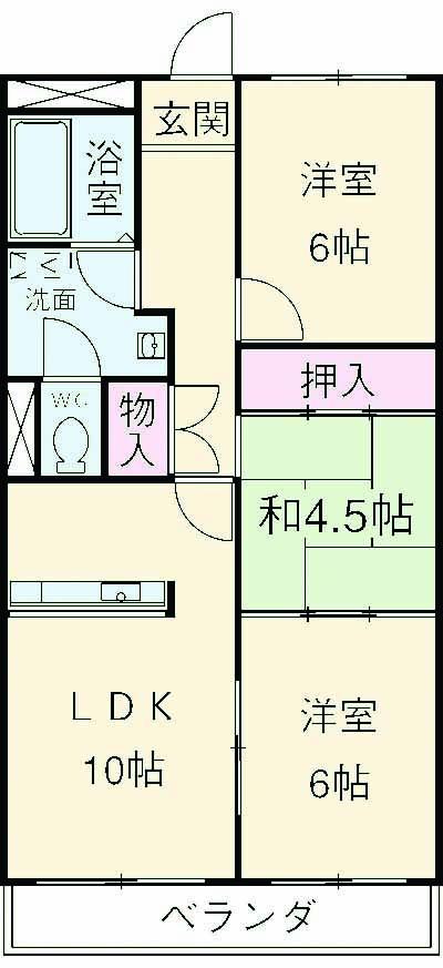 マンションNASHIMA 406号室の間取り