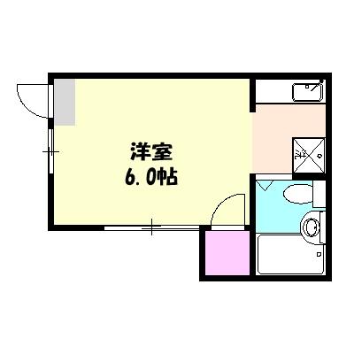 吉田荘 202号室の間取り