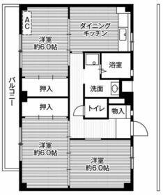 ビレッジハウス菅田3号棟・0101号室の間取り