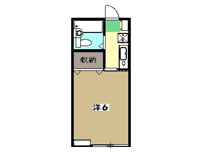 マルガレーテ東浅川 205号室の間取り