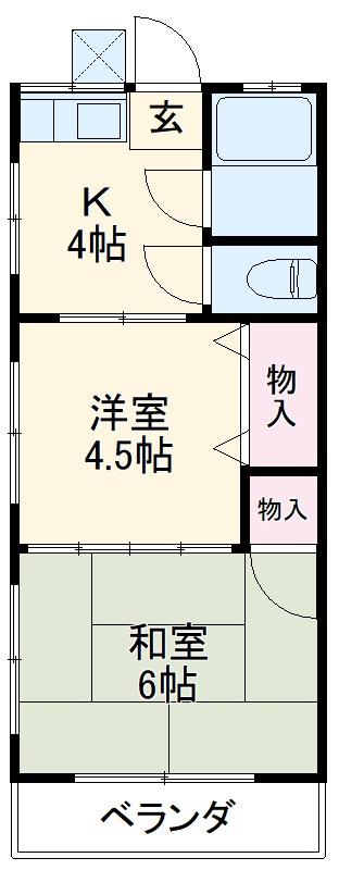 第3矢嶋荘 203号室の間取り