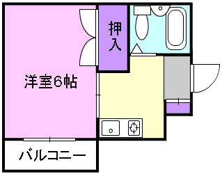 ハイツサライ・201号室の間取り