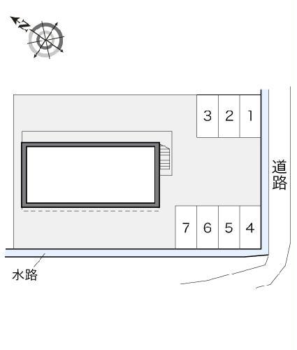 レオパレスリーヴァ 105号室の駐車場