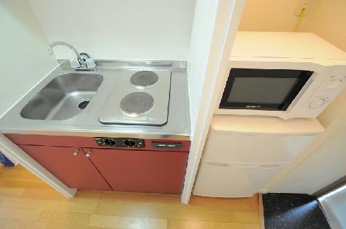 レオパレスウエストⅡ 201号室のキッチン