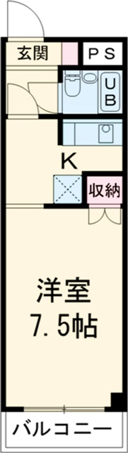 is高師 308号室の間取り