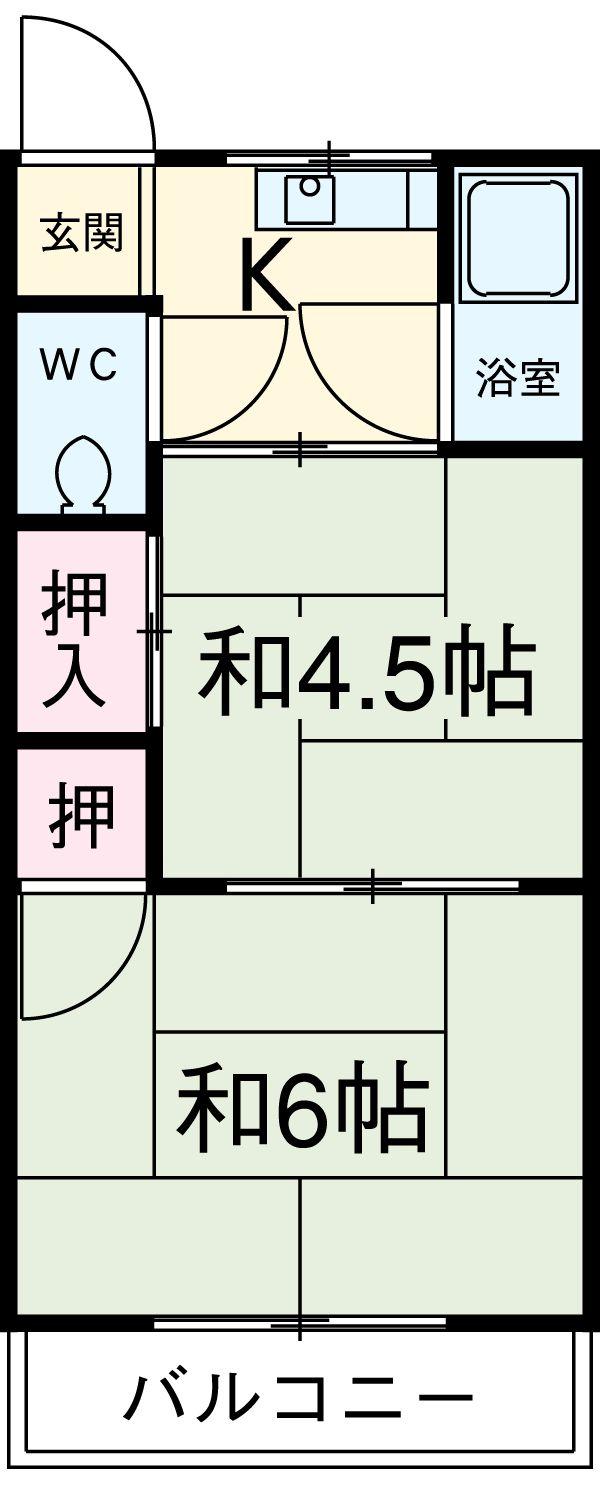 コーポ伊藤 55号室の間取り